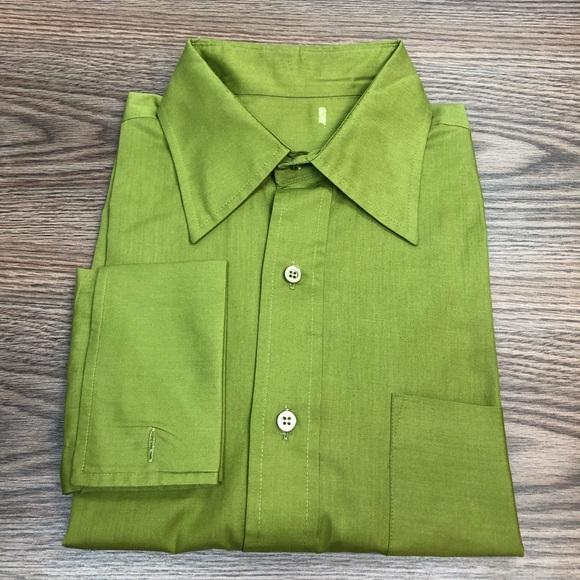 eb76a1ea70 Avocado Green French Cuff Dress Shirt 16-34. M_5cb2ae9e29f0301fd6878e3e